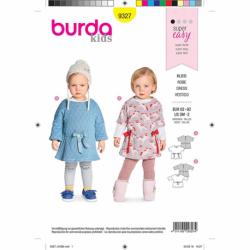 Patron Burda Kids 9327 Robe Pour Bebe 62/92