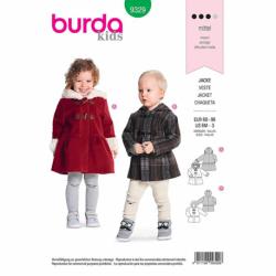 Patron Burda Kids 9329 Veste Pour Enfant 68/98