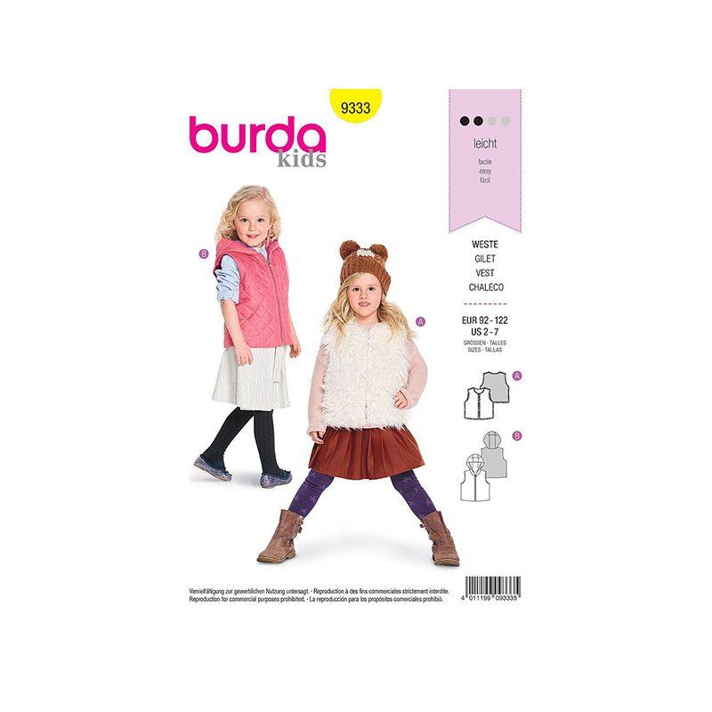 Patron Burda Kids 9333 Gilet Enfant 92/122