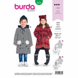 Patron Burda Kids 9334 Veste Pour Enfant 92/122