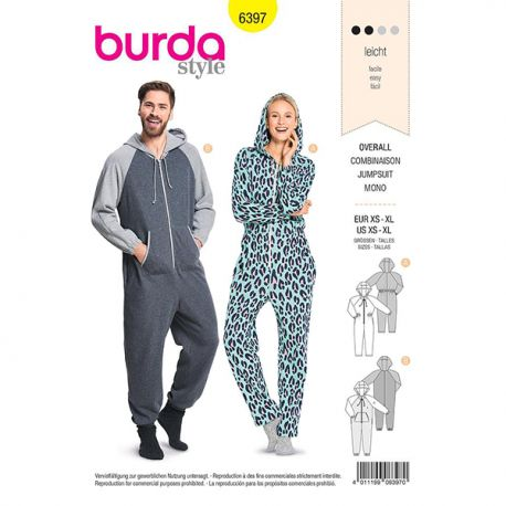 Patron Burda 6397 Combinaison Xs / Xl