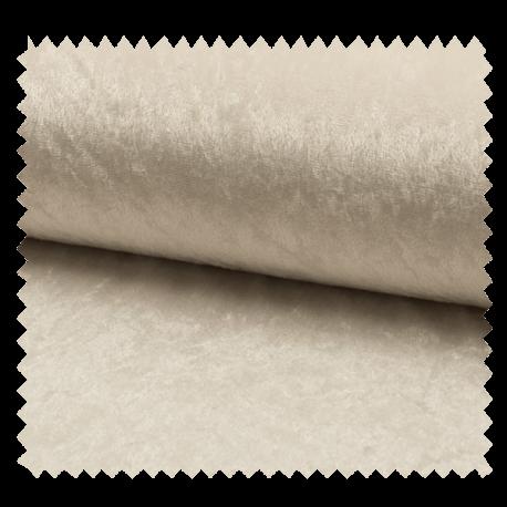 Tissu Panne De Velours Uni Blanc