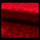 Tissu Panne De Velours Uni Rouge