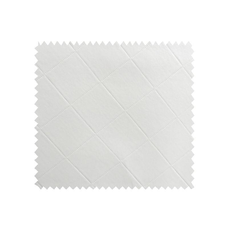 Tissu Simili Losange Blanc