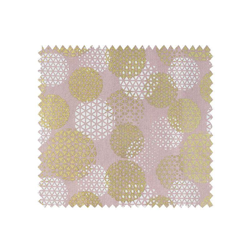 Tissu Cosmique Foil Demi Panama Rose et Or