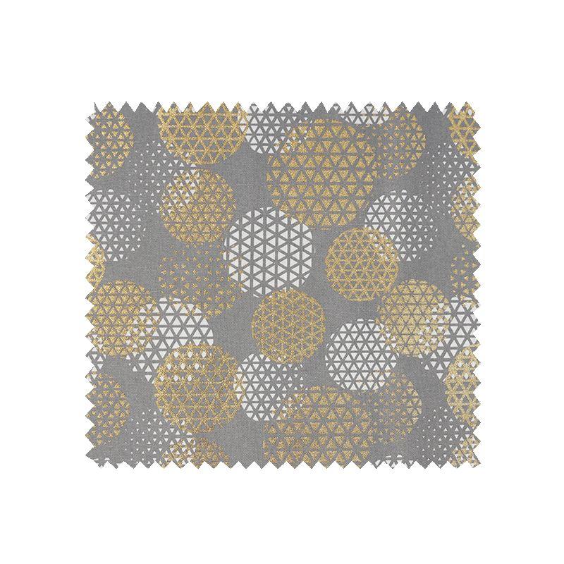 Tissu Cosmique Foil Demi Panama Gris et Or