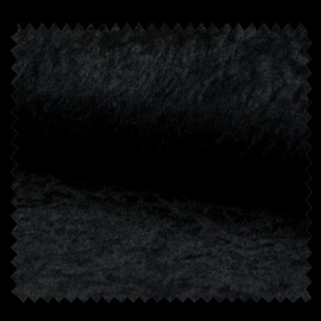 Tissu Panne De Velours Uni Noir