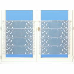 Modulable Largeur 60 cm Organza Geometrique Lurex Blanc Gris