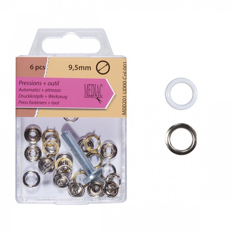 Boutons Pression 9.5mm Outil