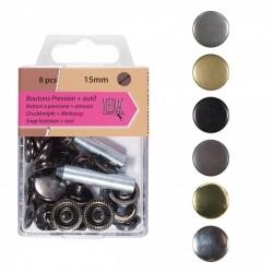 Bouton Pression Tissus lourd + outil - 6 coloris disponibles