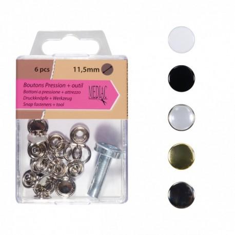 Boutons Pression 11.5mm Outil - 5 coloris disponibles