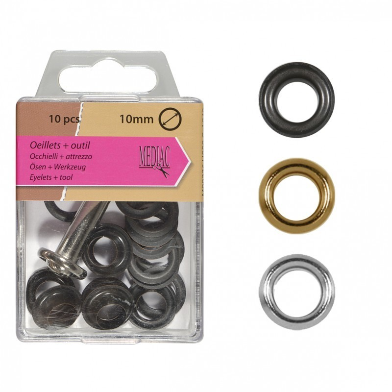 Gros Oeillets 10mm + Outil
