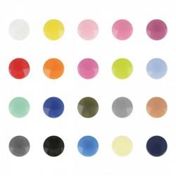 Bouton Pression Plastique 12mm -20 coloris disponibles