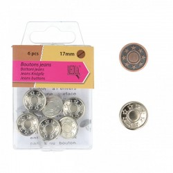 Boutons Jeans 17mm