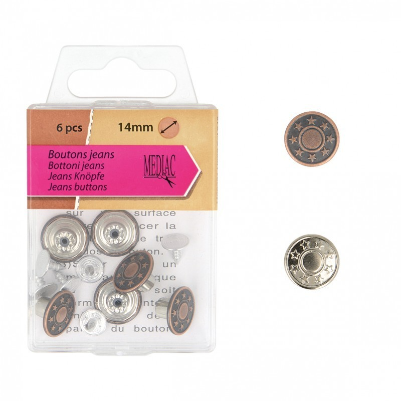 Boutons Jean 14mm