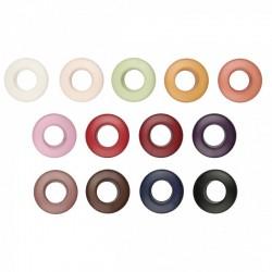 Bouton Œillet Polyester - 13 coloris