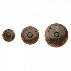 Bouton Pression Marron Ecaille de Tortue - 3 Tailles disponibles
