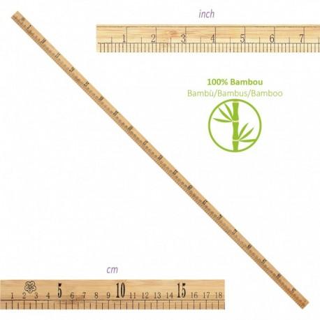Règle Bambou 1m