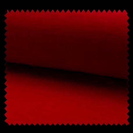 Tissu Jersey Velours Nicky Uni Rouge