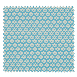 Tissu Imprimé Paquerette Ciel