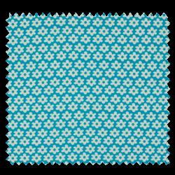 Tissu Imprimé Paquerette Turquoise