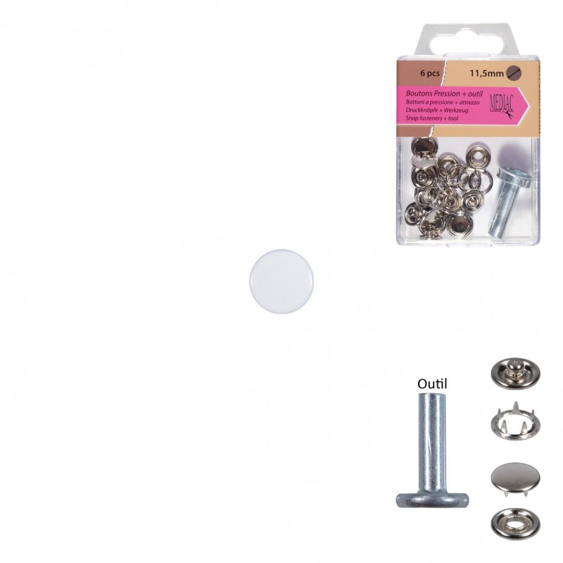 Boutons Pression 11.5mm Outil