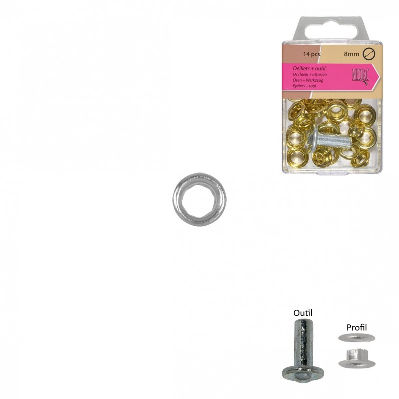 Gros Oeillets 8mm + Outil