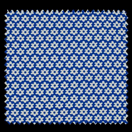 Tissu Imprimé Paquerette Royal