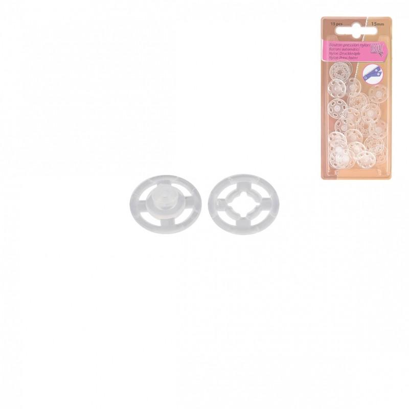 Boutons Pression à Coudre Plastique 7mm