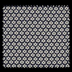 Tissu Imprimé Paquerette Marine
