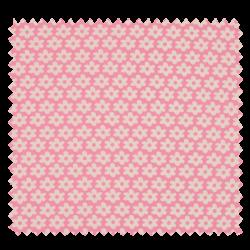 Tissu Imprimé Paquerette Rose