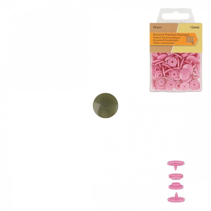 Bouton Pression Plastique 12mm