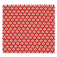 Tissu Imprimé Paquerette Rouge