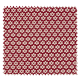 Tissu Imprimé Paquerette Bordeaux