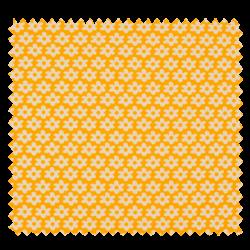 Tissu Imprimé Paquerette Jaune