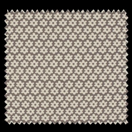 Tissu Imprimé Paquerette Gris
