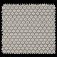 Tissu Imprimé Paquerette Perle