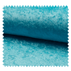 Tissu Panne De Velours Uni Turquoise