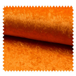 Tissu Panne De Velours Uni Orange