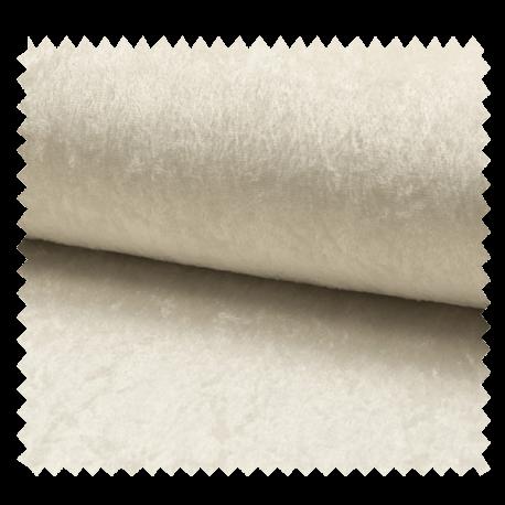 Tissu Panne De Velours Uni Blanc cassé