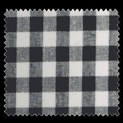 Tissu Vichy DENVER noir