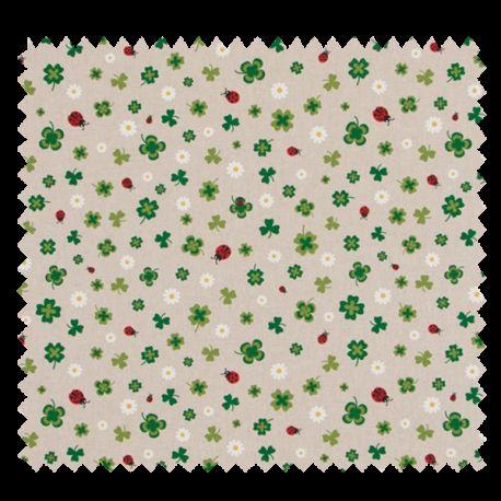 Tissu Trefles Coloris Lin