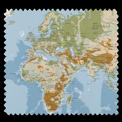 Tissu Map Monde Multico