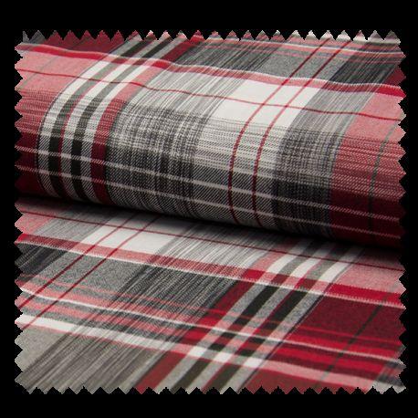 Tissu Carreaux Bali Rouge