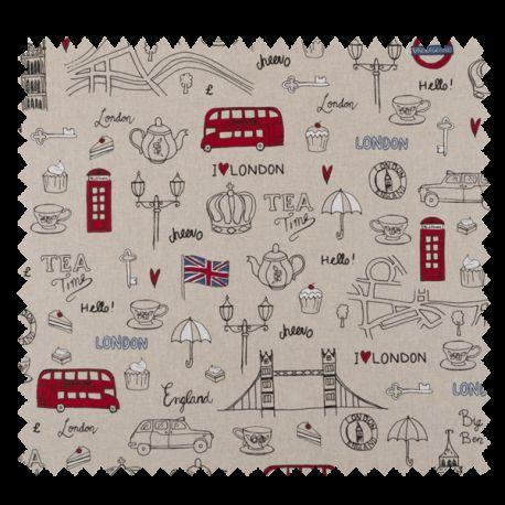 Tissu Londres Coloris Lin