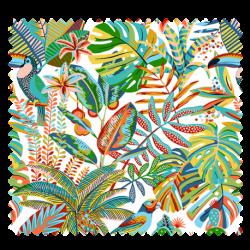 Tissu Manaus Imprimé Fond Blanc