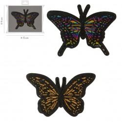 Ecusson Papillons 10x9cm