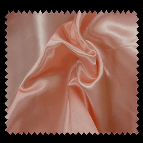 Tissu Satin Uni Rose