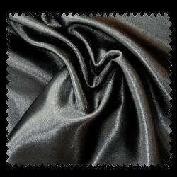 Tissu Satin Uni Noir