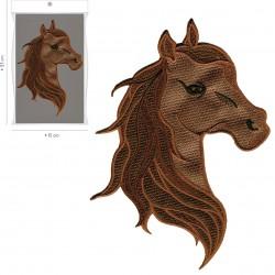 Ecusson Xl tête de cheval 15x13cm